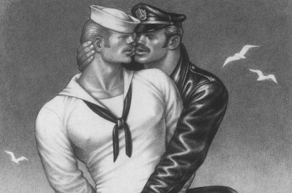 Tom Of Finland drawing erotic images for his own pleasure